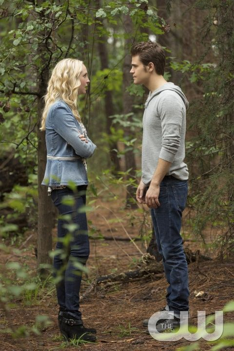 """The Vampire Diaries -- """"The More You Ignore Me, The Closer I Get"""" -- Image Number: VD606b_0074.jpg -- Pictured (L-R): Candice Accola as Caroline and Paul Wesley as Stefan -- Photo: Bob Mahoney/The CW -- © 2014 The CW Network, LLC. All rights reserved.pn"""