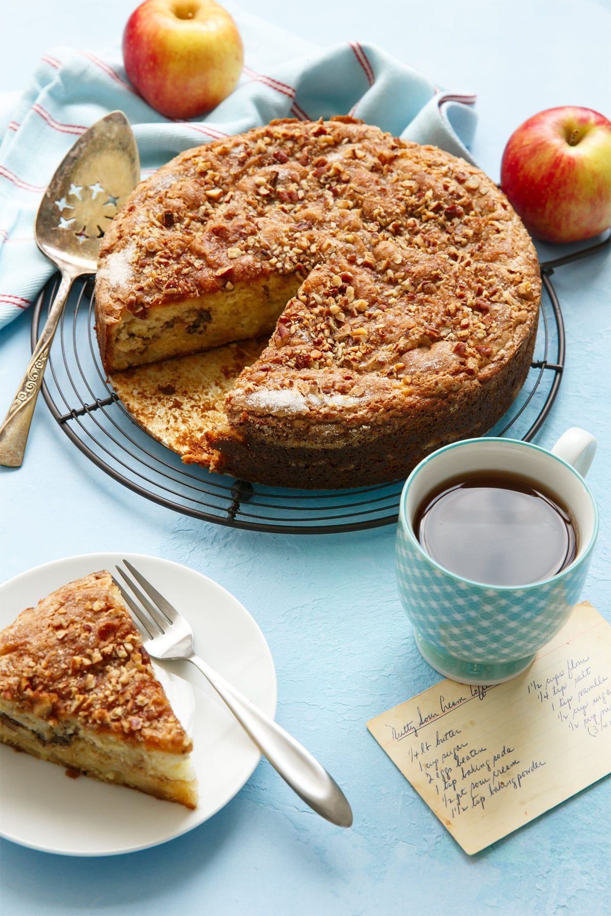 Apple Sour Cream Coffee Cake Love And Olive Oil Recipe Coffee Cake Sour Cream Coffee Cake Coffee Cake Recipes