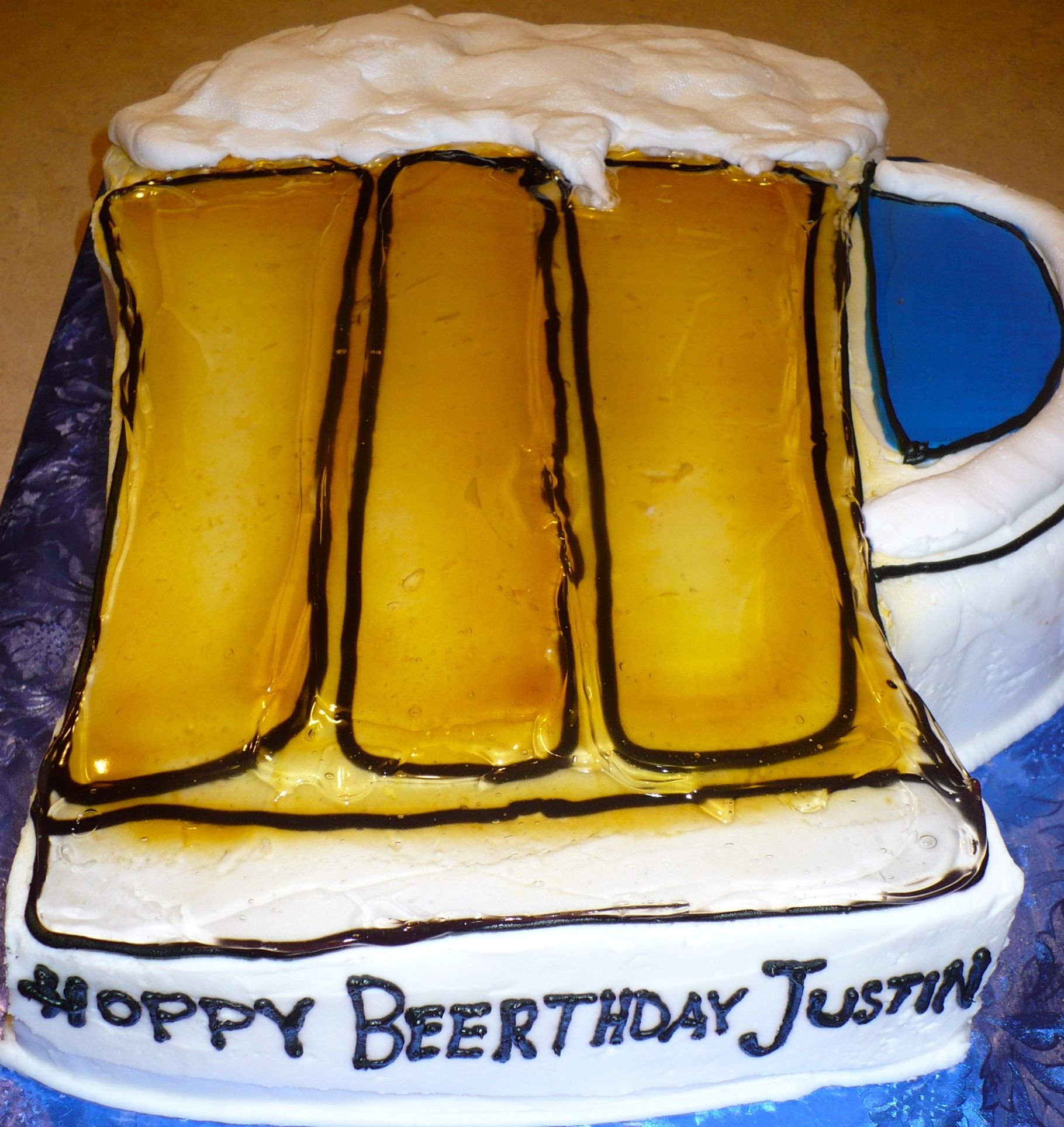 Beer Cake. I Know Someone Who May Like This For His