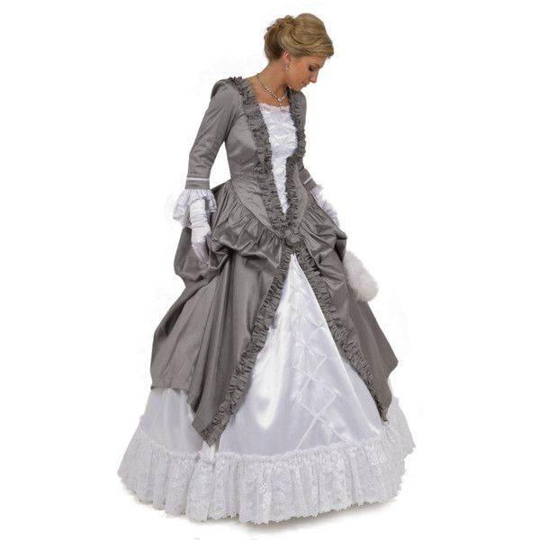 The Angelica Victorian Ball Gown ($400) ❤ liked on Polyvore featuring dresses, gowns, black, women's clothing, evening gowns, long evening gowns, black gown, black cocktail dresses and long sleeve evening dresses