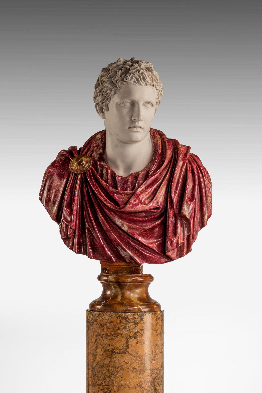 A Bust of a Roman Politician Marcus Antonius