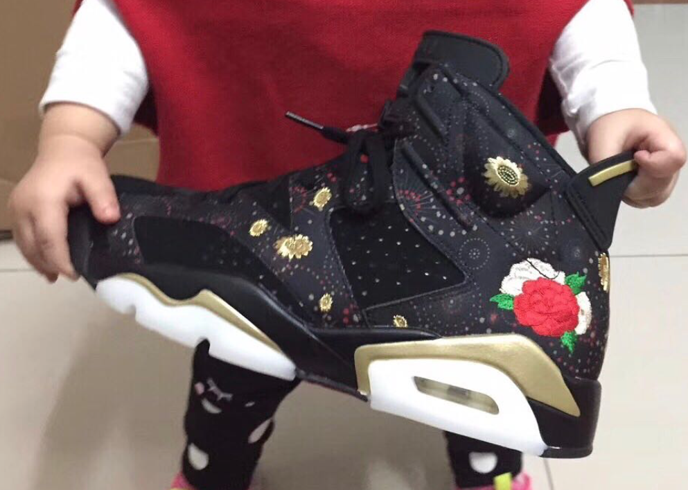 2c25caf1d6ea81 The Air Jordan 6 Chinese New Year is featured in a new full look and it s