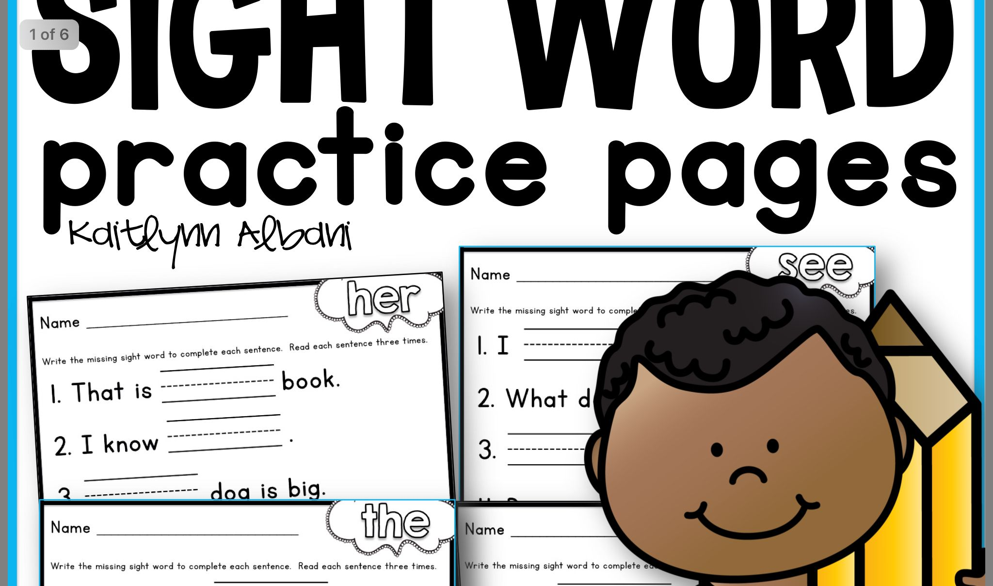 Pin by Gwen Peters on Sight word activities in 2020 | Word ...
