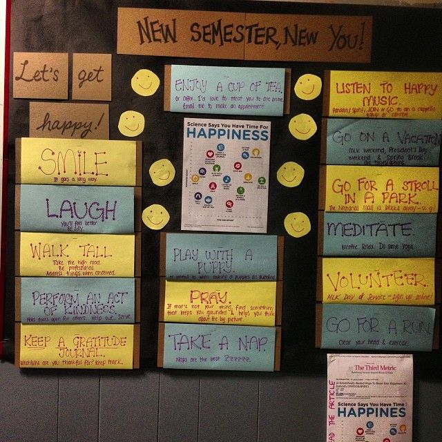 New Semester- New You! Happiness board