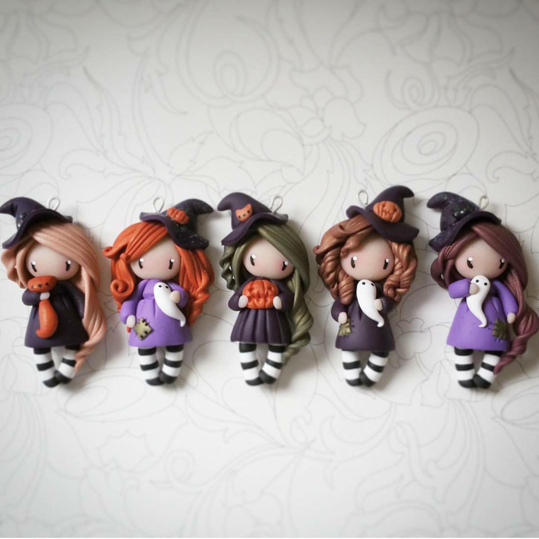 Collier Halloween , Petite sorcière  Collier par madame