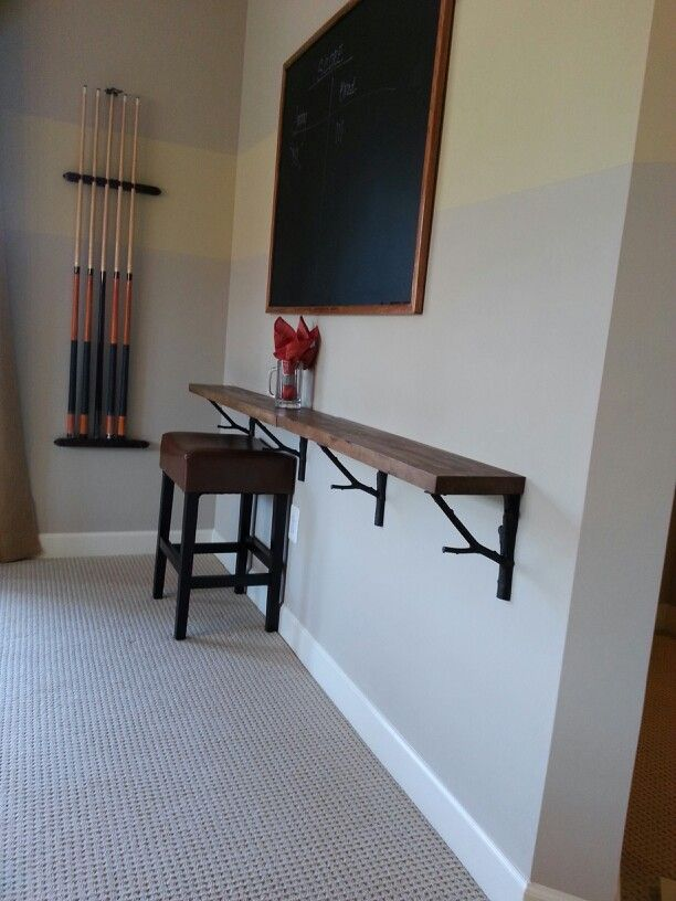 Basement Ledge Ideas Part - 16: Home Ideas Wooden Drink Ledge Around Finished Basement