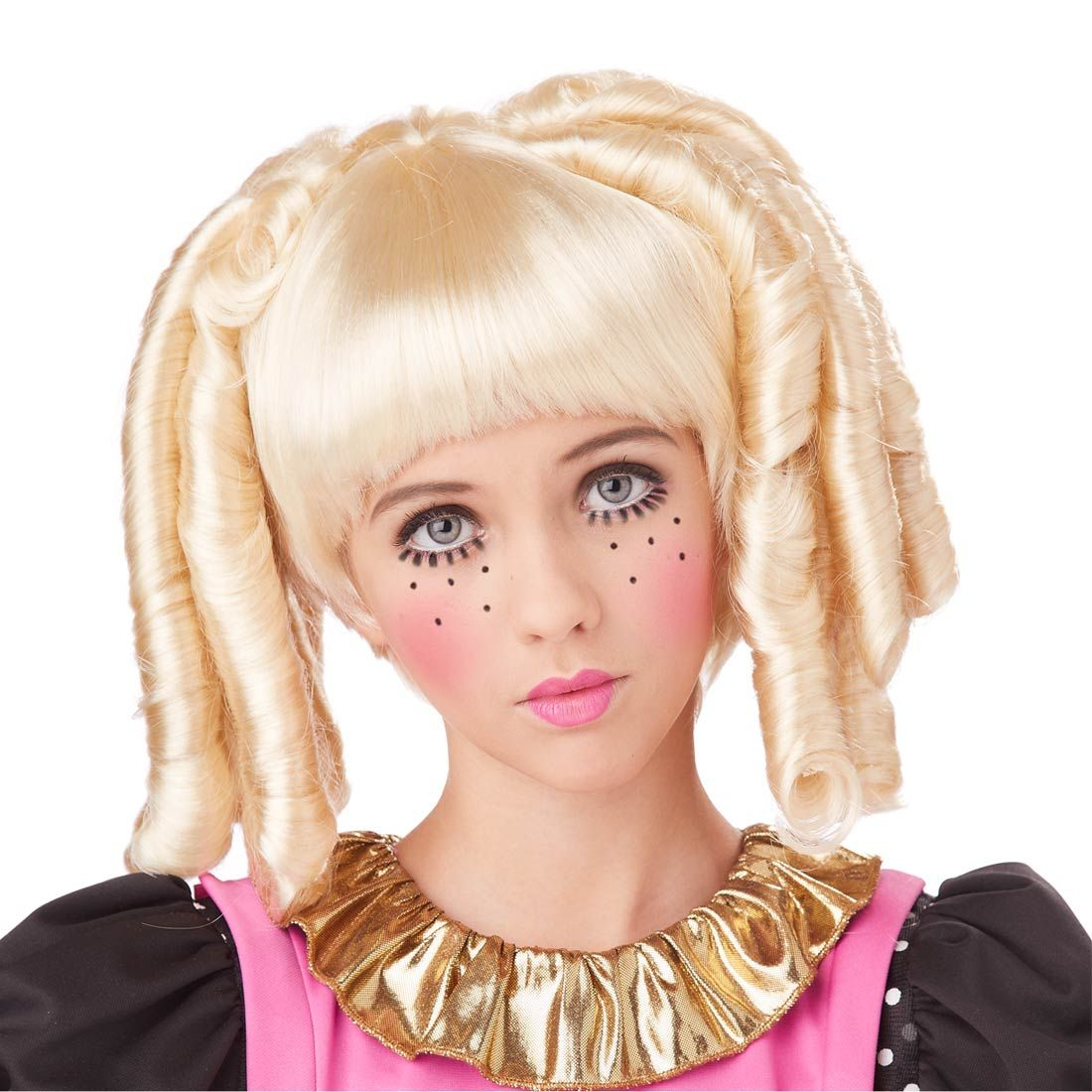 70733 blonde baby doll curls girls costume wig - Halloween Costumes With Blonde Wig
