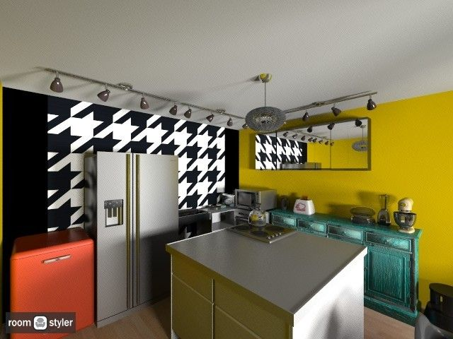 Retro inspired kitchen. Will have one day!