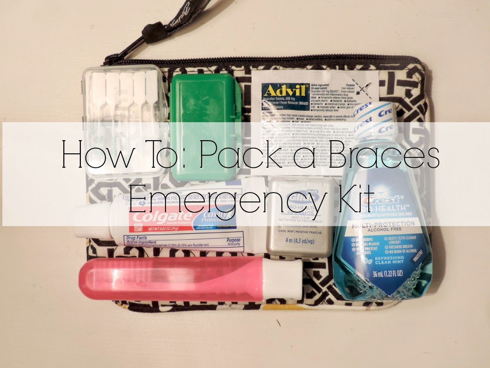 Because i said so braces emergency kit convenience pinterest diy braces emergency kit a handy little bag filled with supplies to keep your mouth clean and happy with braces solutioingenieria Image collections