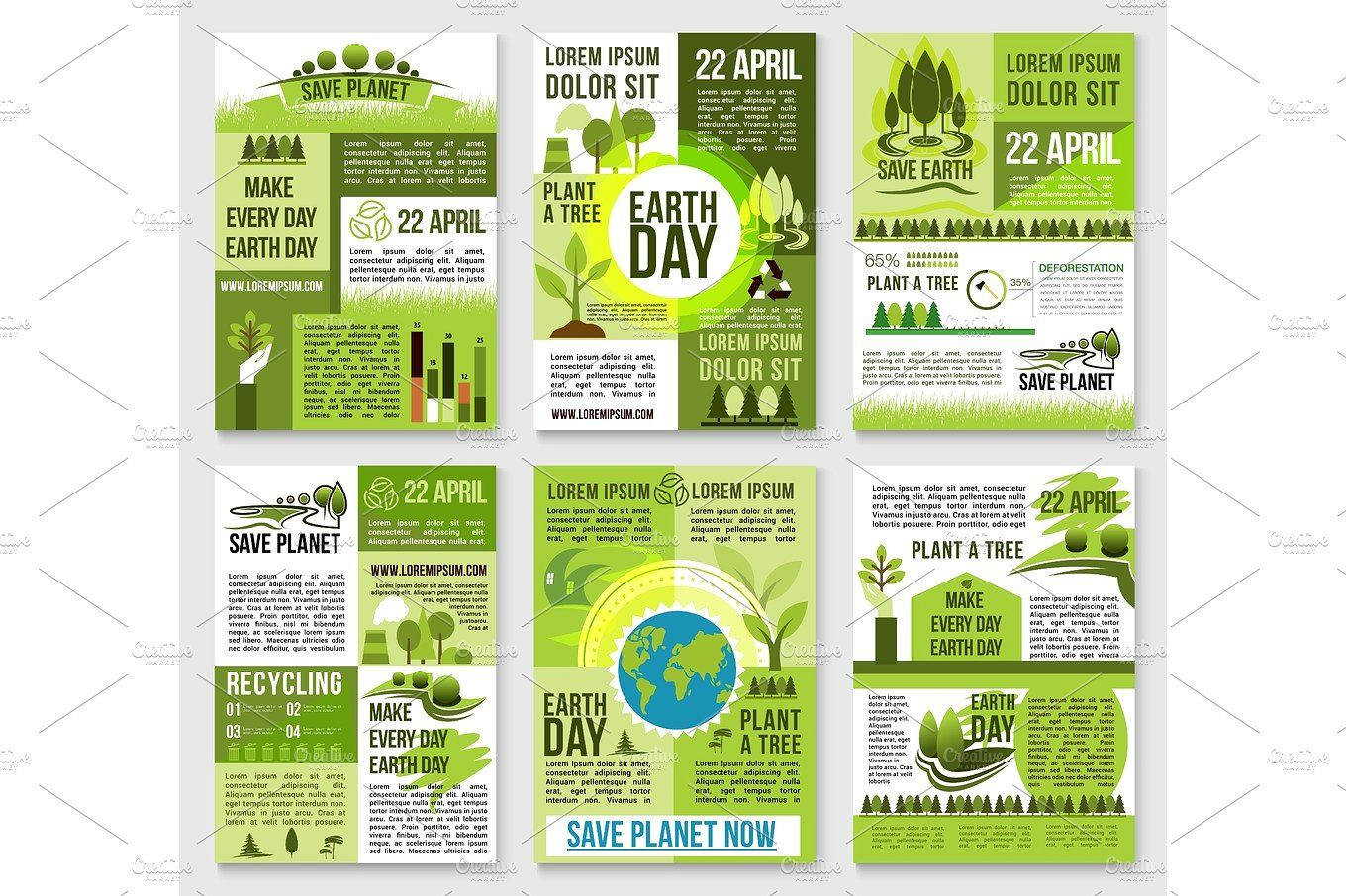 Earth Day poster template for ecology design Earth day