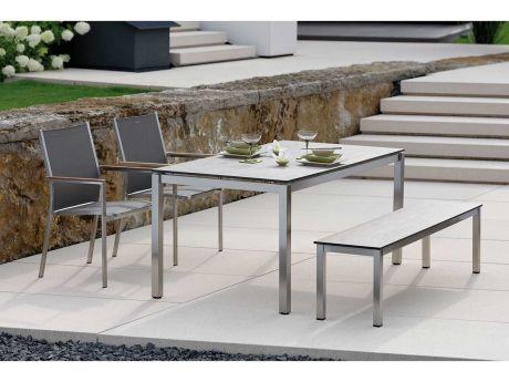 Stern Gartenmöbel Set Cardiff Tisch Silverstar Sand Stern - lounge gartenmobel mit esstisch