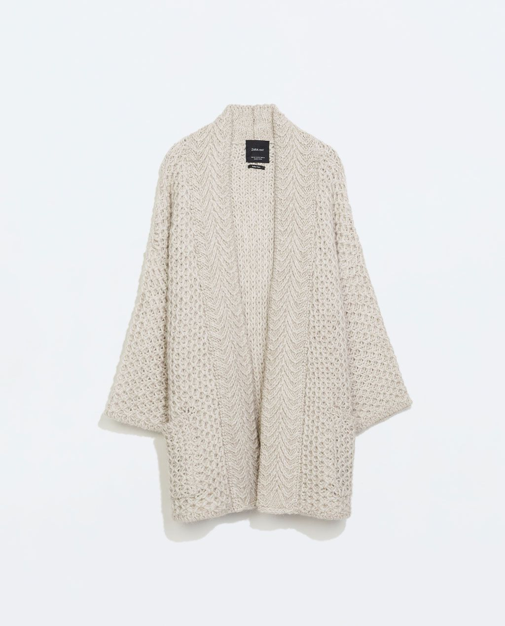 02f9b4312a2f Image 5 of KNIT CARDIGAN WITH POCKETS from Zara