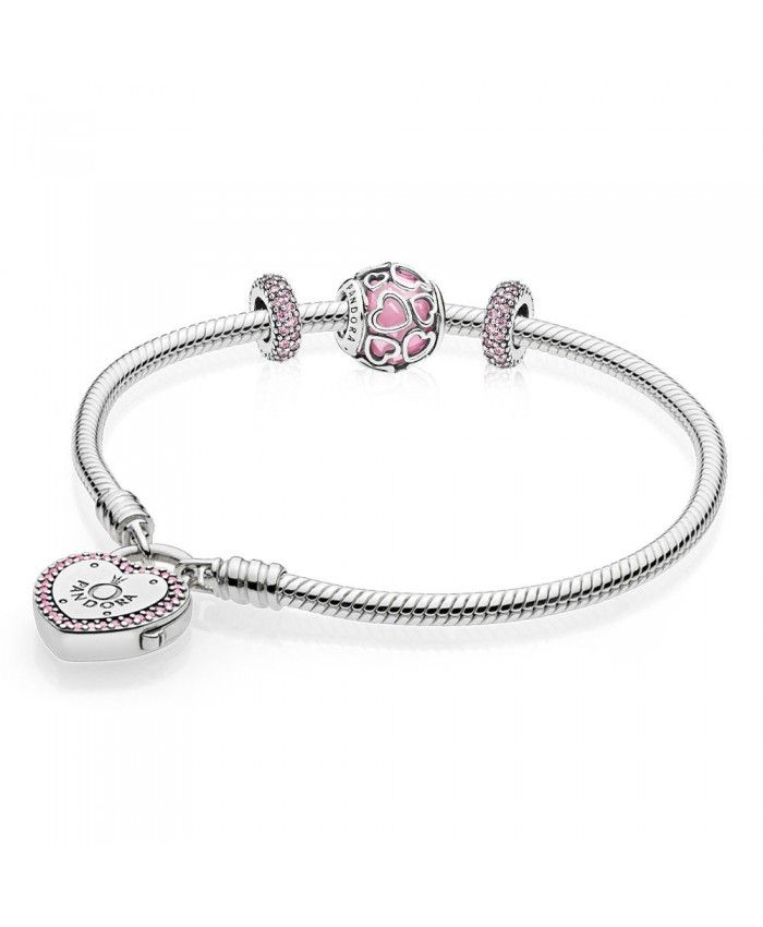Pandora Encased In Love Bracelet Gift Set Uk Outlet