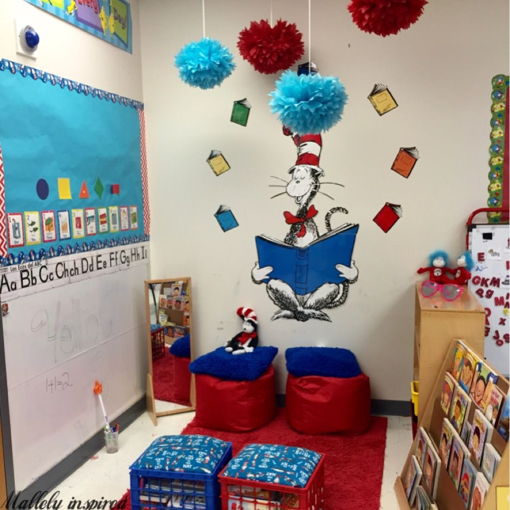 Exceptional Cat In The Hat Reading/Writing Center. (Cover Your Wall With Whiteboard  Contact Part 27