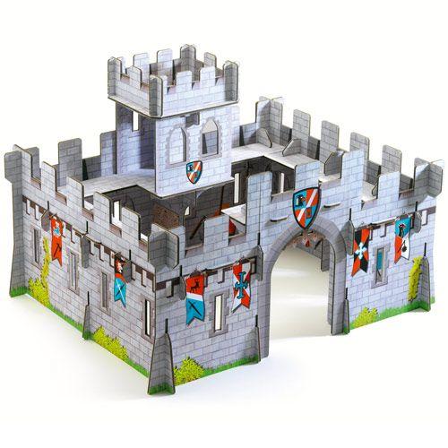 Un château en carton très solide, facile à assembler et très - maquette de maison a construire