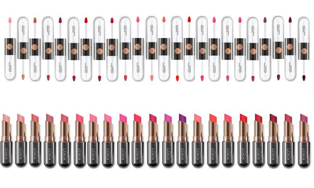 KIKO Unlimited Double Touch e Unlimited Stylo - http://www.beautydea.it/kiko-unlimited-double-touch-unlimited-stylo/ - Un arcobaleno di nuance a lunga tenuta per labbra da baciare! Kiko Milano presenta i nuovi lipstick Unlimited Double Touch e Unlimited Stylo! Eccoli in anteprima!