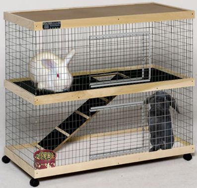Indoor Rabbit Cage Plans Two Story Rabbit Cages Group Picture