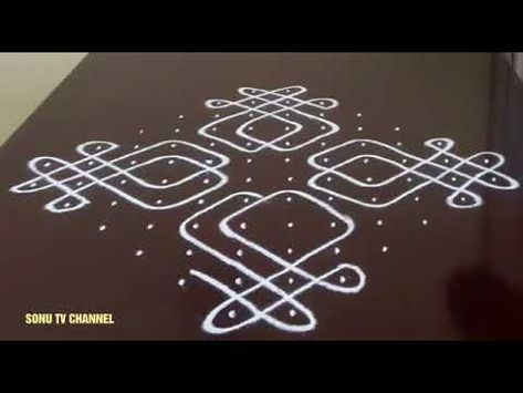 Melikala Muggulu Designs Simple Sikku Kolam With 13 To 1 Dots