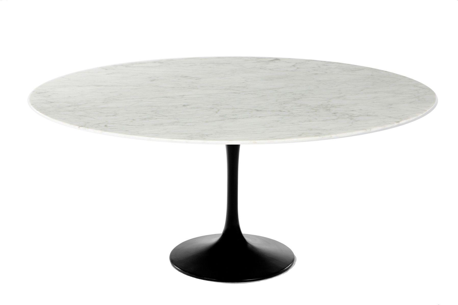 Saarinen 60 Oval Marble Tulip Dining Table Oval Marble Dining