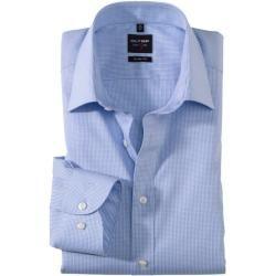 Olymp Level Five Hemd, body fit, New York Kent, Bleu, 44 Olymp