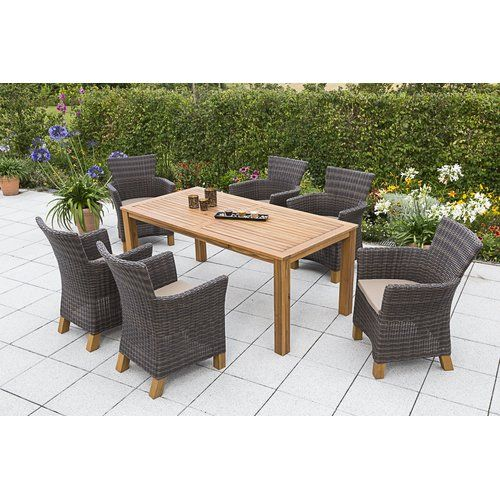 Sol 72 Outdoor Newbrook 6 Seater Dining Set With Cushions