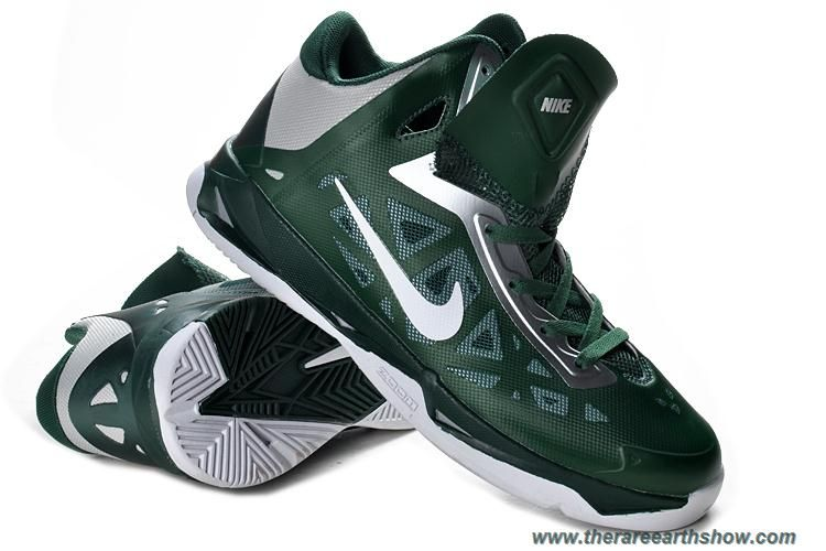 best sneakers 5bf1e 6cfa4 Mens 535272 300 Nike Zoom Hyperchaos Gorge Green White Metallic Silver  Outlet   Nike Air Foamposite One   Pinterest   Nike, Nike zoom and Nike  lebron