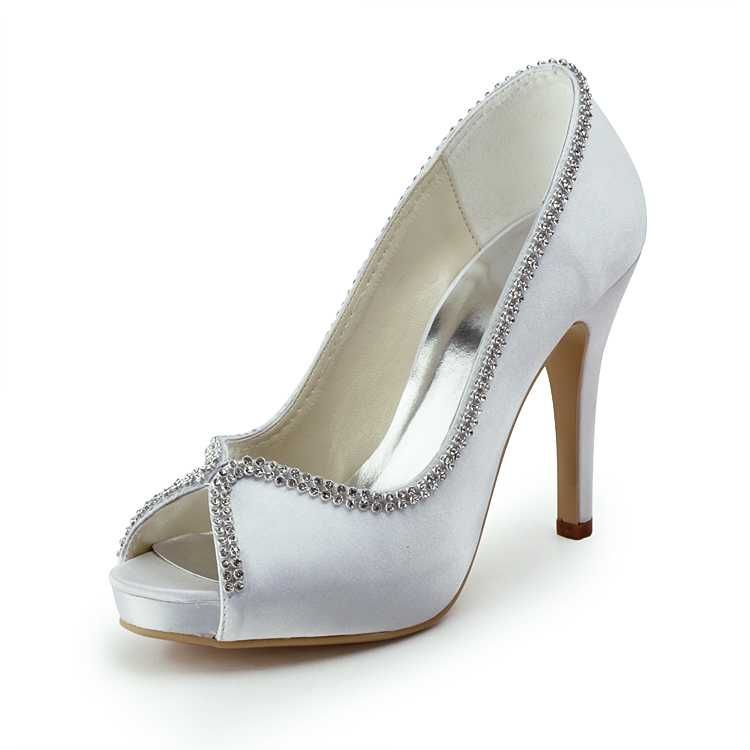 Pretty Heels Edged In Rhinestone