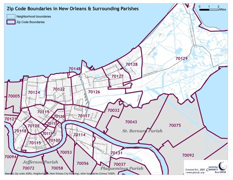 Zip Code Map New Orleans Feasibility of Retail Developments in New Orleans East: New
