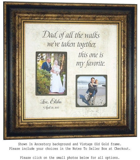 Personalized Frame Father of the Bride Gift by PhotoFrameOriginals ...