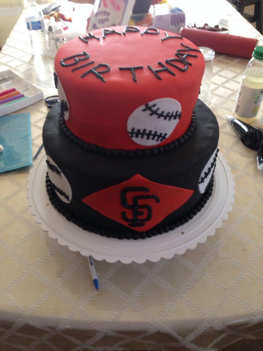 SF Giants fondant cake made by ytza