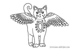 dibujos para dibujar gato volador  Dibujos para colorear  Pinterest