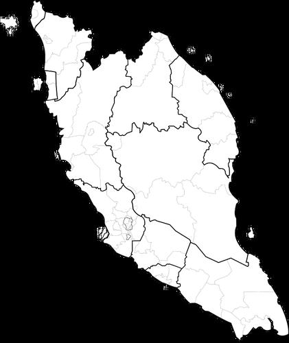 Kosong Peta Semenanjung Malaysia