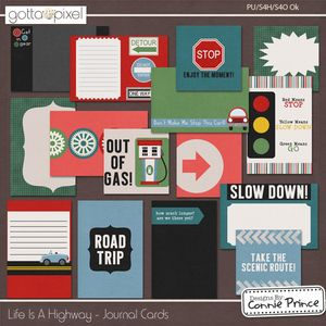 Life Is A Highway - Digital Scrapbook Journal Cards at Gotta Pixel. www.gottapixel.net/