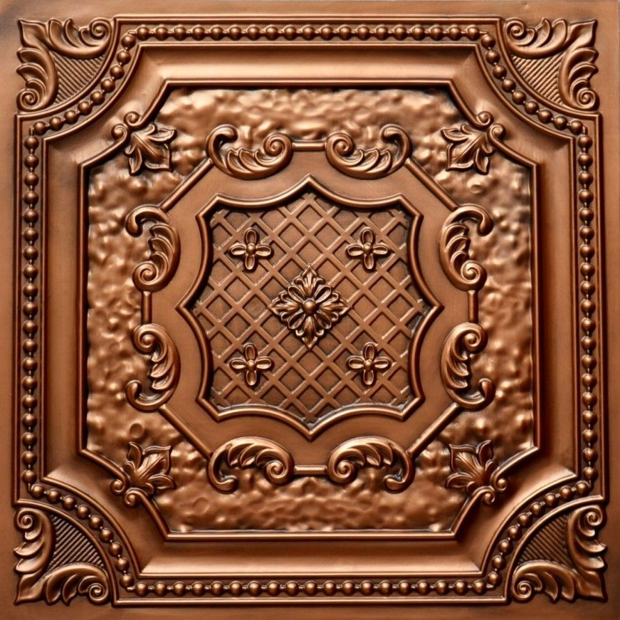 Decorative Tin Tiles For Wall Faux Aged Copper  Home Decor  Pinterest  Ceiling Tiles