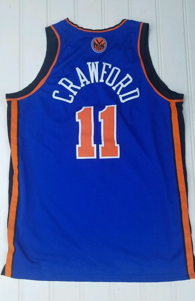 JAMAL CRAWFORD  11 NY KNICKS Official Home Jersey Reebok NBA Rare L+2  Stitched  adidas  NewYorkKnicks 2ddb23845
