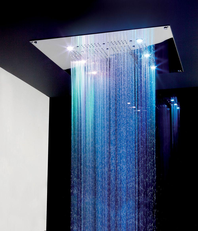 L.E.D waterfall/rain shower.. Must have! (bathroom ideas)   dream ...