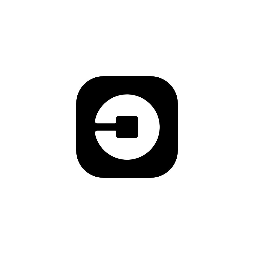 Uber White And Black Logo Icon Logo Icons Retail Logos Black Logo