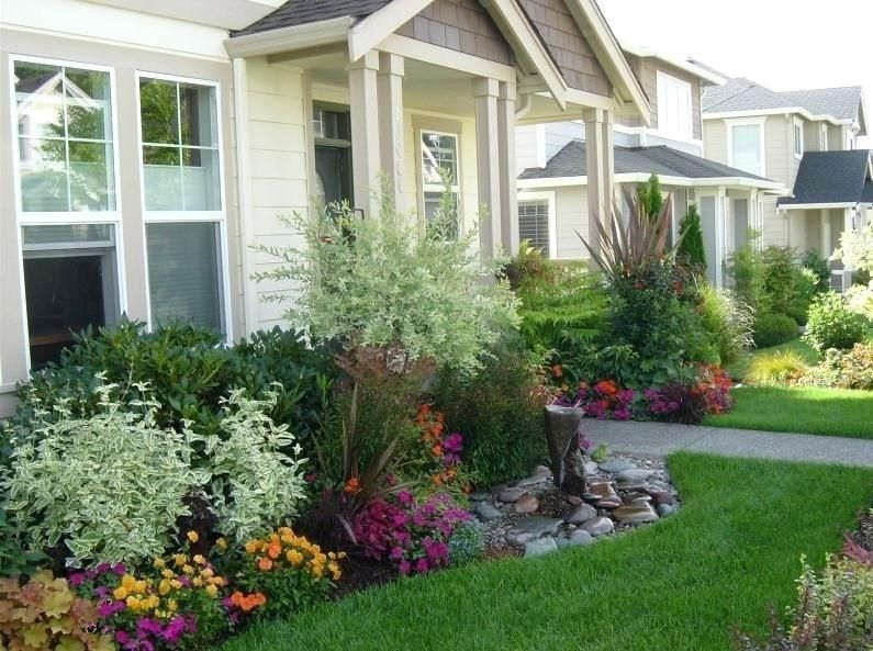 Photo of front garden ideas with parking landscape front of house with flowers front gard…