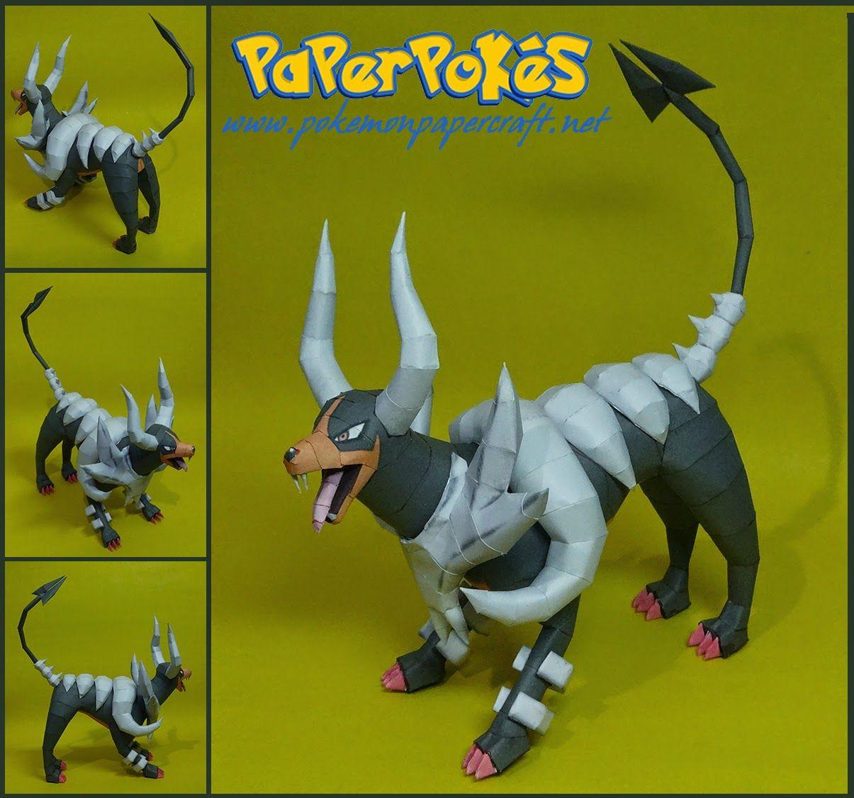 Paperpokés- Pokémon Papercrafts: M HOUNDOOM (Happy Halloween!)