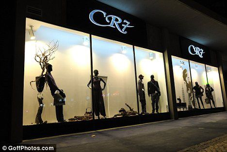 """In 2006 he opened a fashion boutique under his initials """"CR7"""" in Lisbon,Portugal."""