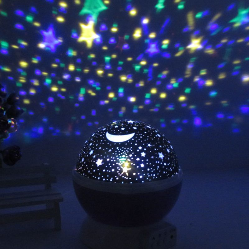 Led Star Lighting Lamp Color Changing Romantic Room Rotating Lamp Moon Sky Night Light Projection Warm White For C Star Night Light Night Light Led Night Light