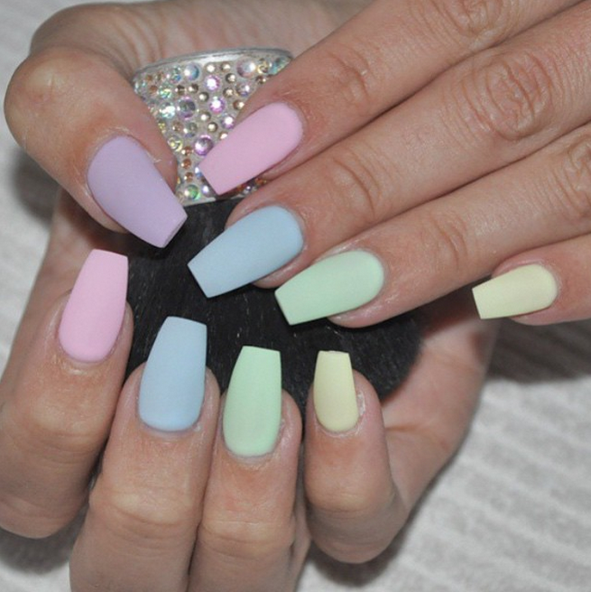 30 Manicure Ideas That Will Make You Mad For Matte In 2020 Cute Nails Manicure Fake Nails