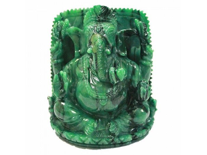 Ganesha in Bird Gemstone - 730 grams