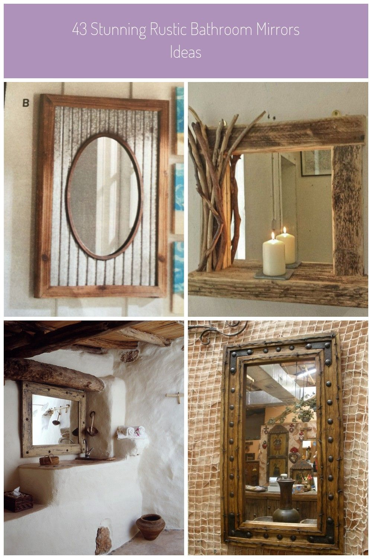 43 Stunning Rustic Bathroom Mirrors 84 Corrugated Metal Rustic Mirror 1 Rustic Mirror 43 Stunnin Rustic Bathroom Mirrors Rustic Bathroom Rustic Mirror Frame