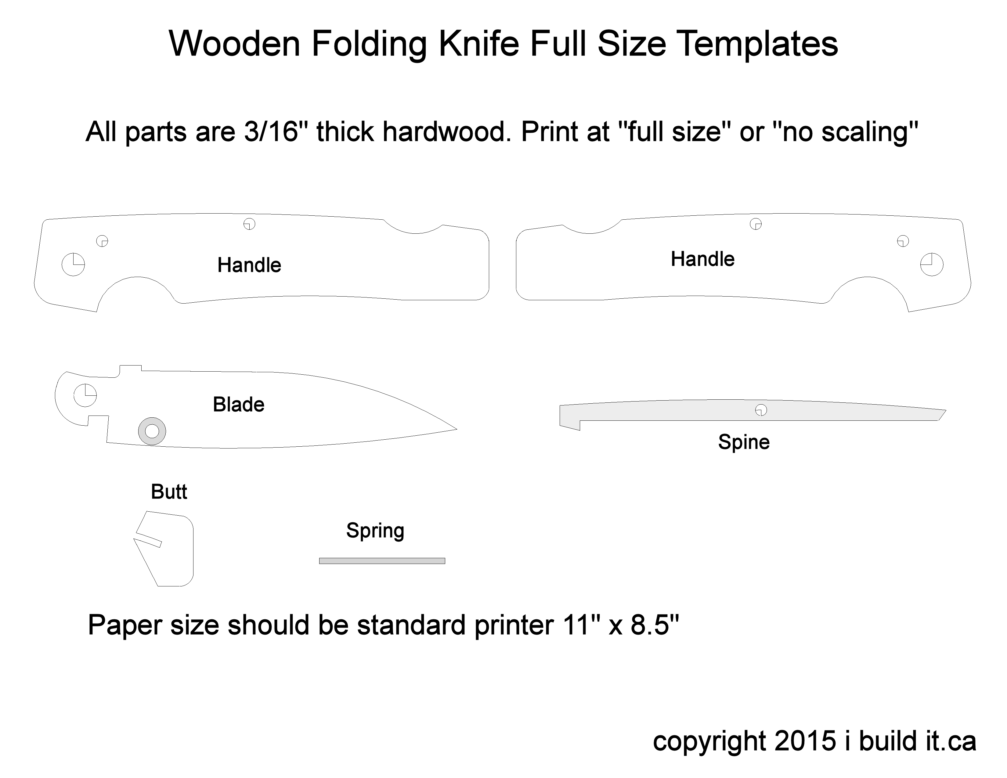 picture about Printable Folding Knife Templates titled folding knife template knives Picket pocket knife, Knife