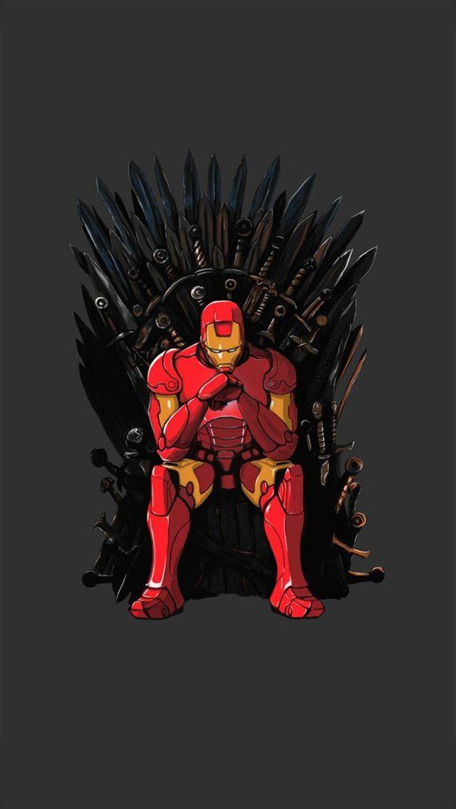 Iron Man Throne Iphonewallpaper Papel De Parede Vingadores