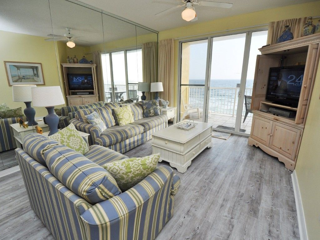 Gulf Dunes Vacation Rental - VRBO 451332 - 3 BR Okaloosa Island Condo in FL, Gulf Dunes Unit 616 Top Floor, Gulf Front, Large Unit, Wood Floors,