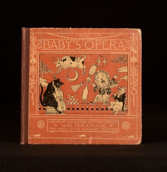 """%0D%0AThe Baby's Opera%0D%0AA Book of Old Rhymes with New Dresses%0D%0AByWalter Crane%0D%0A1877 - London - Frederick Warne and Co.%0D%0A7.5"""" by 7""""; 56pp.%0D%0A 