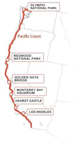 Map Of The Pacific Coast Road Trip Theres A Good Reason Its - Map of us pacific coast