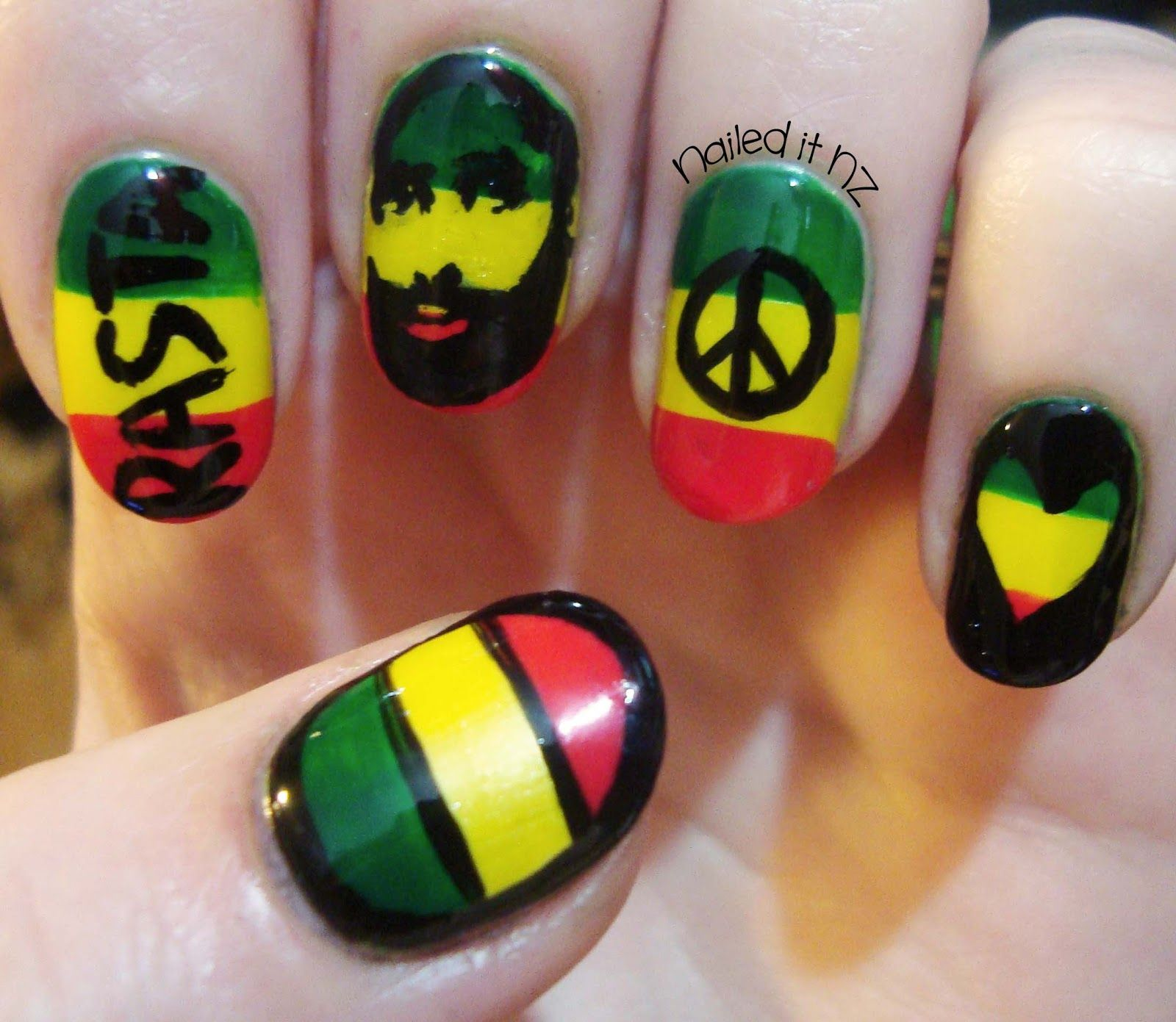 Nailed It NZ: Rasta nails are so hard to do! + get a Born Pretty ...